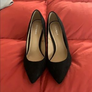 Old Navy Black Suede Heels - 7